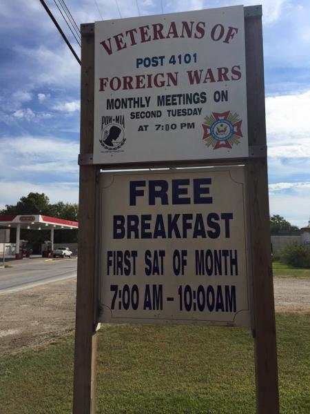Veteran of Foreign Wars Post 4101 Breakfast