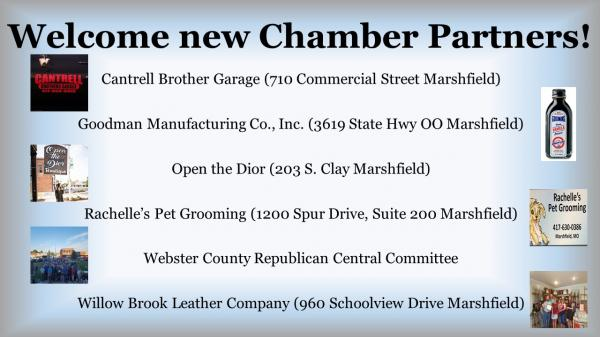 Welcome New Chamber Partners!
