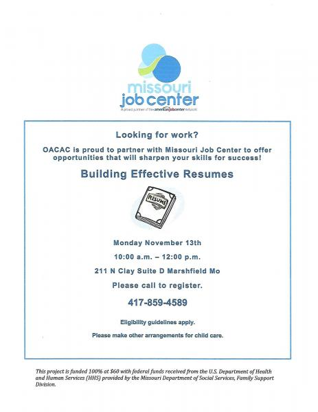 OACAC Resume Workshop