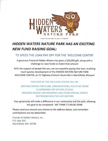 Hidden Waters Nature Park Fundraiser
