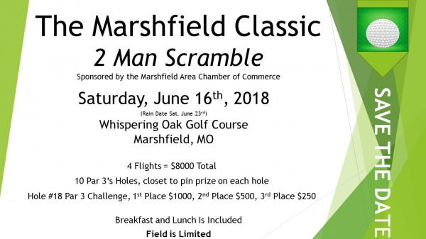 Marshfield Classic - 2 Man Scramble Golf Tournament, Saturday, June 16th