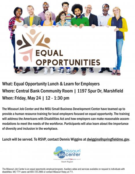 Equal Opportunity Lunch & Learn for Employers