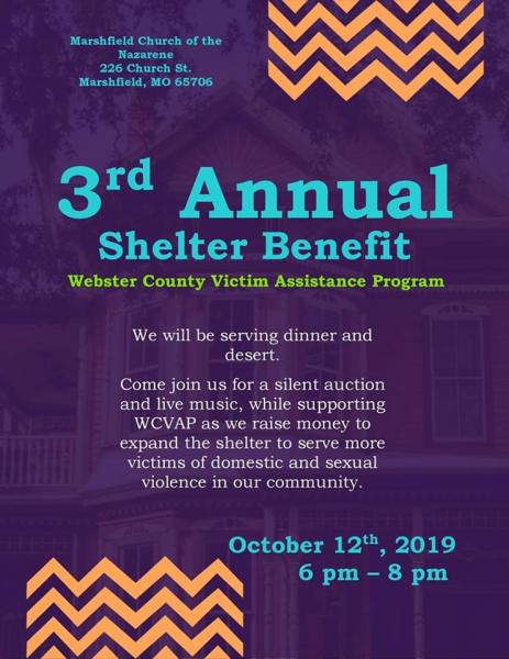 3rd Annual Shelter Benefit