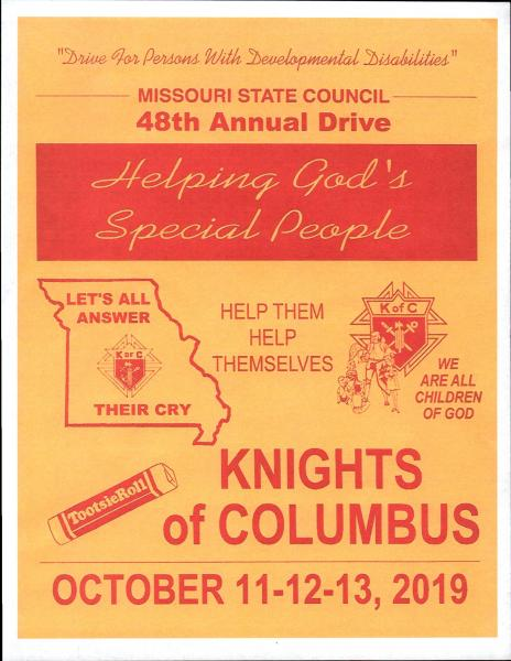 Knights of Columbus Tootsie Roll Drive