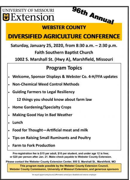 96th Annual Diversified Agriculture