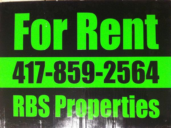 Watch for our FOR RENT signs!!!