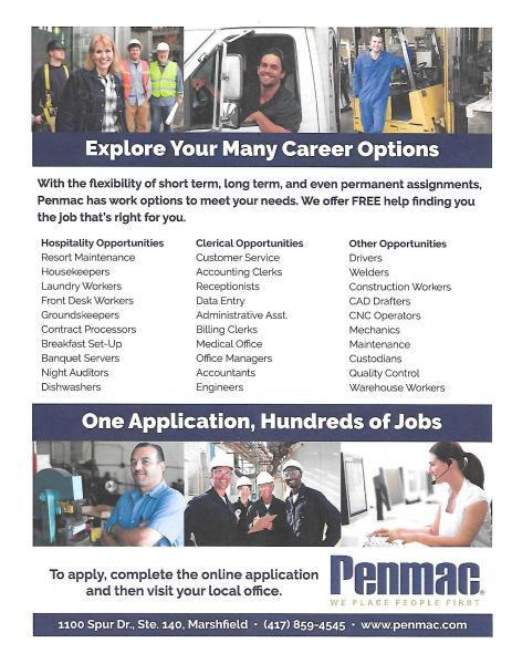 Career Options through Penmac!